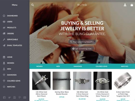 Bling | Ecommerce iPhone App